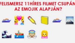 11 híres film emojikkal elmesélve – Felismered mindet?