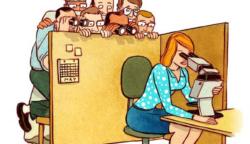 Ez a 14 illusztráció bemutatja, a modern nők társadalmi problémáit.