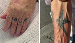 20 fotó, amely megmutatja, hogyan fognak kinézni a tetoválásaink idős korunkban