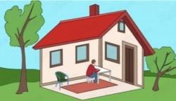 Szerinted a házon belül, vagy kívül ül ez a férfi?