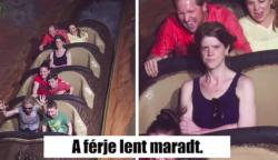 15 vicces fotó, ami hullámvasúton készült.