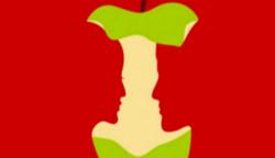 Az almát, a szerelmes párt, a nőt, vagy a férfit veszed észre először a képen?