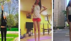 Egy mongol lány a világ második leghosszabb lábának büszke tulajdonosa