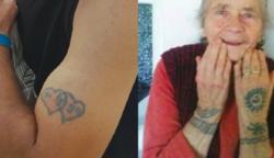 Íme 20 fénykép, ami megmutatja, milyenek lesznek a tetoválásaink idősebb korunkban