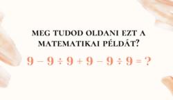 Nem mindenki tudja megoldani ezt a matekpéldát az 1950-es évekből anélkül, hogy számológépet használna