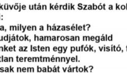 Esküvője után kérdik Szabót a kollégái