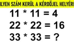 Egy matek feladvány, hogy az agyunkat is megtornáztassuk