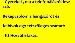 A tanítónő telefonálni tanítja  a gyerekeket…. :D